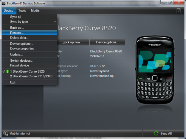 Service Book For Blackberry 8520